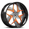 5 LUG TALENZO SILVER AND ORANGE WITH BLACK LIP