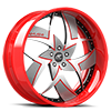 5 LUG TALENZO SILVER, RED AND WHITE WITH RED LIP
