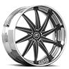 Vona Black and Silver with Chrome Lip 5 lug