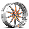 Vona Orange, Silver and Satin with Chrome Lip 5 lug