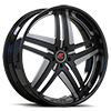 Tesla Black and Satin with Black Lip 5 lug
