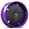 HNIC Cali 5 Black and Purple 5 lug