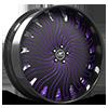 HNIC Miami 15 Black and Purple with Carbon Lip 5 lug