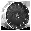 HNIC Miami 15 Black with Chrome Lip 5 lug