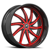 5 LUG ENTOURAGE RED AND BLACK WITH CARBON LIP