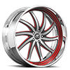 Entourage Silver, Black and Red with Chrome Lip 5 lug