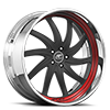 5 LUG ENTOURAGE BLACK AND RED WITH BLACK LIP