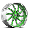 Entourage Green and Black with Chrome Lip 5 lug