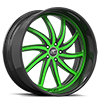 5 LUG ENTOURAGE GREEN AND BLACK WITH CARBON LIP