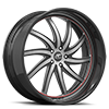 5 LUG ENTOURAGE SILVER, BLACK AND RED WITH CARBON LIP