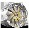 Entourage Silver and Yellow with Chrome Lip 5 lug
