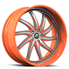 Entourage Silver and Orange 5 lug