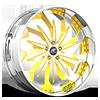Trifecta Yellow and Chrome with Chrome Lip 5 lug