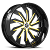 Trifecta Satin, Yellow and Black with Black Lip 5 lug
