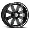 NX-18 Gloss Black Milled 6 lug