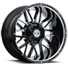 6 LUG NX-12 GLOSS BLACK MACHINED