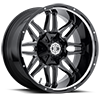 NX-9 Gloss Black Milled 8 lug