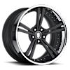 725 Black with Chrome Lip 5 lug