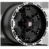 6 LUG 815 FLAT BLACK W/ MACHINED LIP