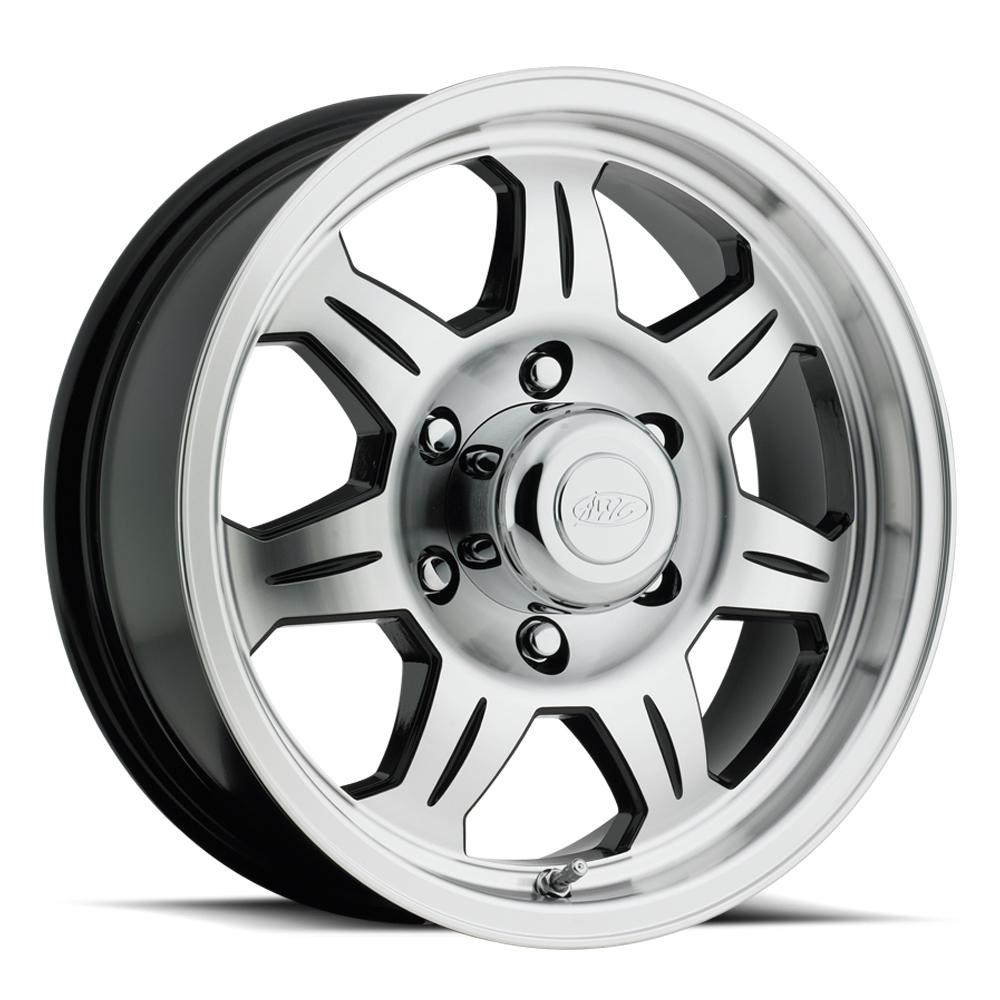 870 Trailer Wheel Black & Machined Face 6 lug