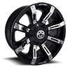 A711 - Defender Gloss Black w/ Chrome Inserts 5 lug
