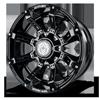 A711 - Defender Gloss Black w/ Gloss Black Inserts 6 lug