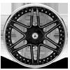 5 LUG AF116 BLACK & MACHINED
