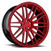 5 LUG AGL10 MONOBLOCK BRUSHED CANDY RED GLOSS