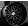 5 LUG AGL10 MATTE BLACK WITH GLOSS BLACK LIP