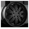 5 LUG AGL11 MATTE BLACK WITH GLOSS BLACK LIP