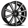 5 LUG AGL11 MONOBLOCK GLOSS BLACK WITH WHITE ACCENTS