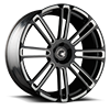 5 LUG AGL14 MONOBLOCK GLOSS BLACK WITH WHITE ACCENTS