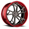 AGL24 Brushed Grigio with Brushed Candy Red Lip 5 lug
