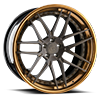 AGL35-ND Brushed Matte Candy Black Liquid Bronze Lip 5 lug