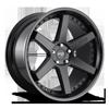 Altair - M192 Satin Black/Gloss Black 5 lug