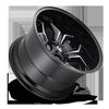 5 LUG AVENGER - D606 GLOSS BLACK & MILLED
