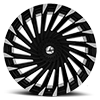 5 LUG AZA-501 GLOSS BLACK MACHINED