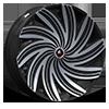 6 LUG AZA-502 GLOSS BLACK MACHINED