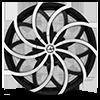 5 LUG AZA-504 GLOSS BLACK MACHINED