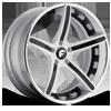 AGGIO-ECL Satin/Black Center, Chrome Lip 5 lug