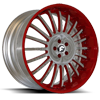 ANDATA Hammered Satin/Red Center, Red Lip 5 lug