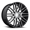 Anzio - M165 Gloss Black with Brushed Face 5 lug