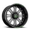 8 LUG AB101 OUTBREAK GREY W/ BLACK LIP AND GREEN TEXT