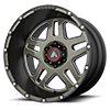 AB-809 Matte Black Machined w/ Milled Tinted Clear 6 lug