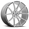 ABL-13 Brushed Silver w/ Gloss Black Inserts 5 lug