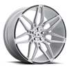 5 LUG ABL-11 SIRIUS BRUSHED SILVER W/ CARBON FIBER INSERTS