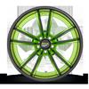 5 LUG BASTILLE SNAKESKIN GREEN PEARL W/ GLOSS BLACK