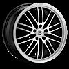 BR4 Machined Black 5 lug