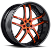 BS2 Orange with Black Lip 5 lug