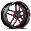 BS2 Black with Red Trim 5 lug
